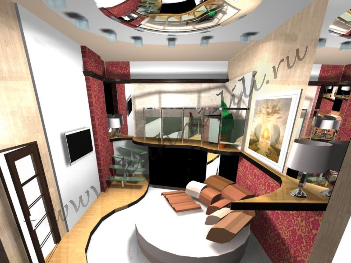 Дизайн комнаты спальня кабинет