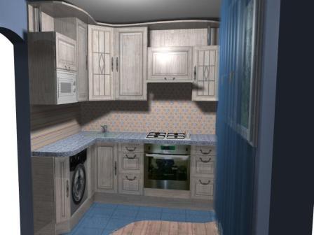 проект кухни в 600 серию